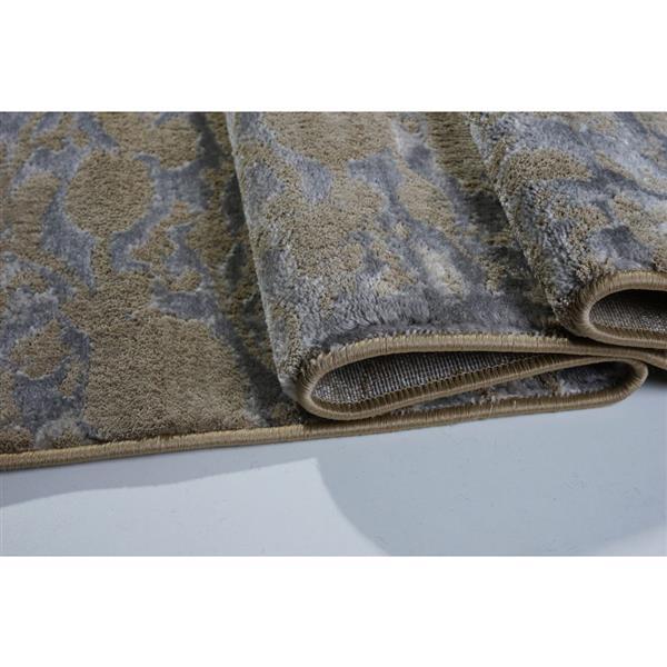 La Dole Rugs®  Concord Abstract Area Rug - 4' x 6' - Caramel/Grey