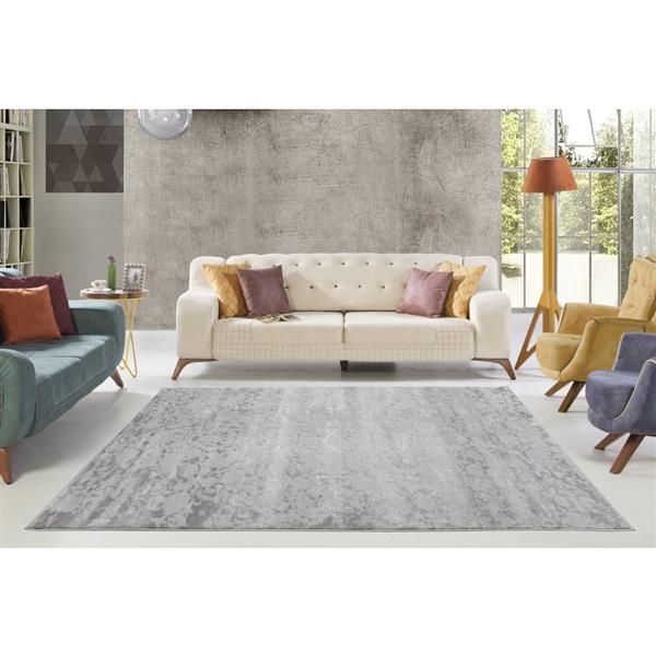 La Dole Rugs® Concord Abstract Area Rug - 3' x 5' - Grey