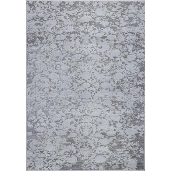 La Dole Rugs® Concord Abstract Area Rug - 3' x 10' - Grey