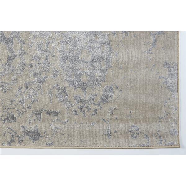 Tapis moderne «Cherine» de La Dole Rugs(MD), 4' x 6', crème
