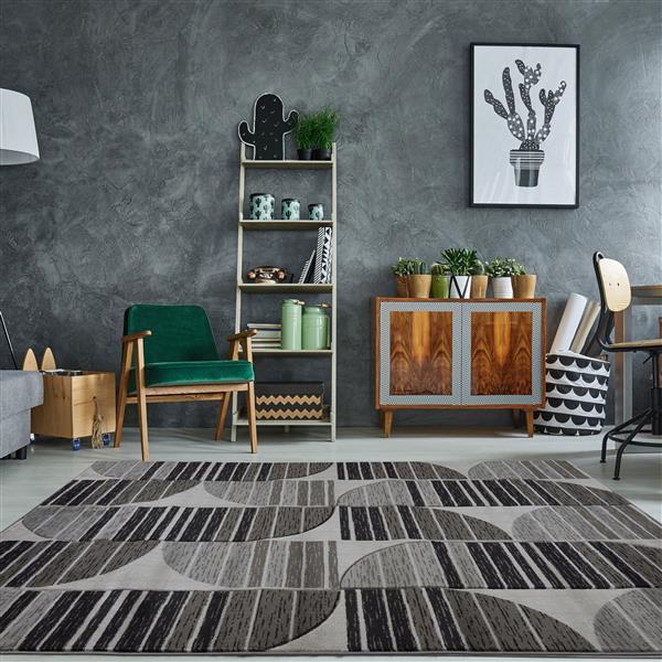 La Dole Rugs® Modern Area Rug - 7' x 10' - Dark Grey/Black