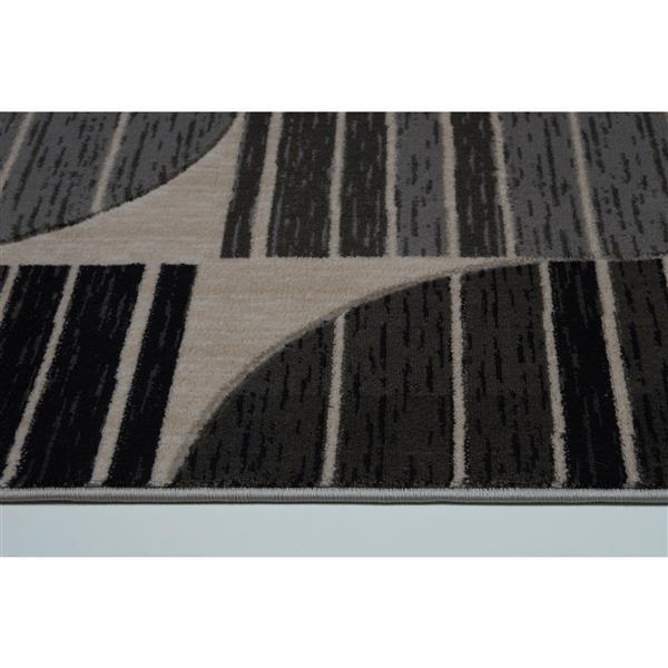La Dole Rugs® Modern Area Rug - 3' x 10' - Dark Grey/Black