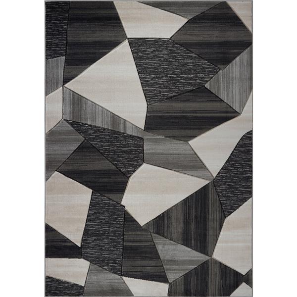 La Dole Rugs® Soft and Modern Carpet - 7' x 10' - Cream/Gold