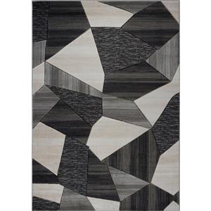 La Dole Rugs® Soft and Modern Carpet - 7' x 10' - Black