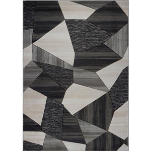 Tapis moderne de La Dole Rugs(MD), 3' x 5', noir