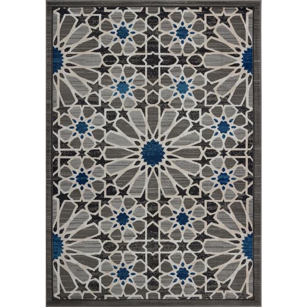 La Dole Rugs® Modern Area Rug - 3' x 5' - Dark Grey/Blue