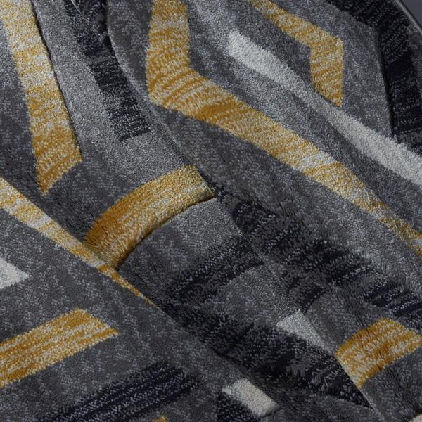 "La Dole Rugs® Modern Mat - 1' 10"" x 2' 11"" - Dark Grey"