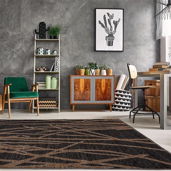 La Dole Rugs® Modern Carpet - 5' x 7' - Dark Grey