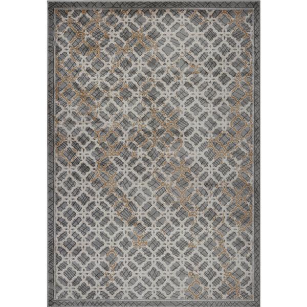 Tapis moderne de La Dole Rugs(MD), 3' x 5', gris
