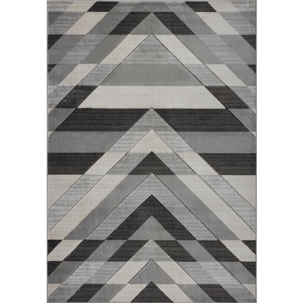 La Dole Rugs® Modern Area Rug - 8' x 11' - Grey/Black