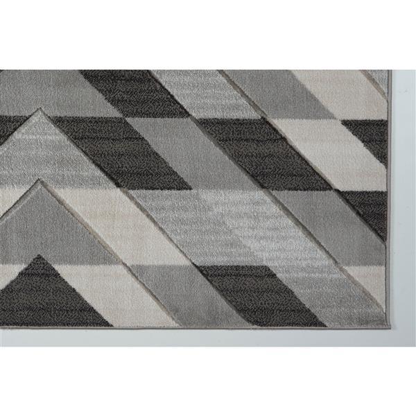 La Dole Rugs® Modern Area Rug - 4' x 6' - Grey/Black