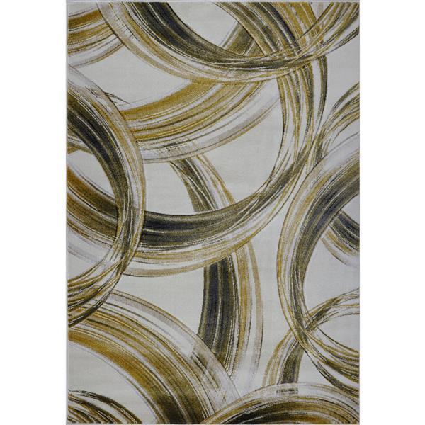 La Dole Rugs® Modern Area Rug - 4' x 6' - Cream/Gold