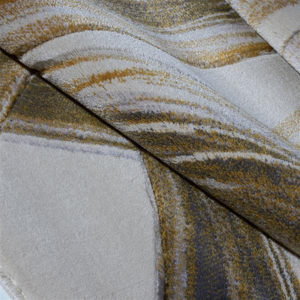 La Dole Rugs® Modern Area Rug - 7' x 10' - Cream/Gold