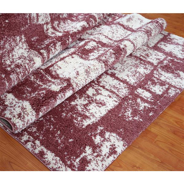 La Dole Rugs®  Contemporary Abstract Area Rug - 7' x 10' - Rose/Cream
