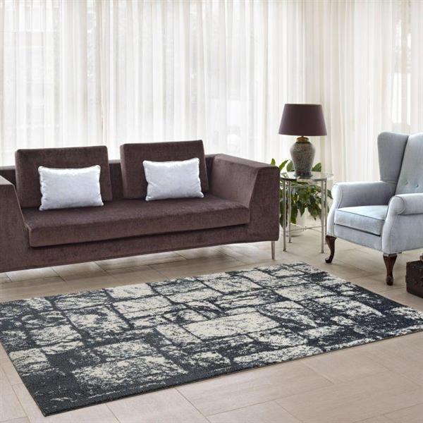 La Dole Rugs®  Contemporary Abstract Area Rug - 5' x 8' - Light Grey