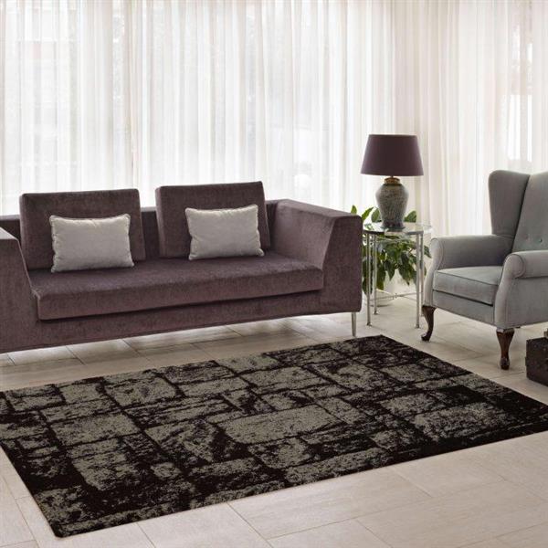 La Dole Rugs®  Contemporary Abstract European Rug - 5' x 8' - Brown