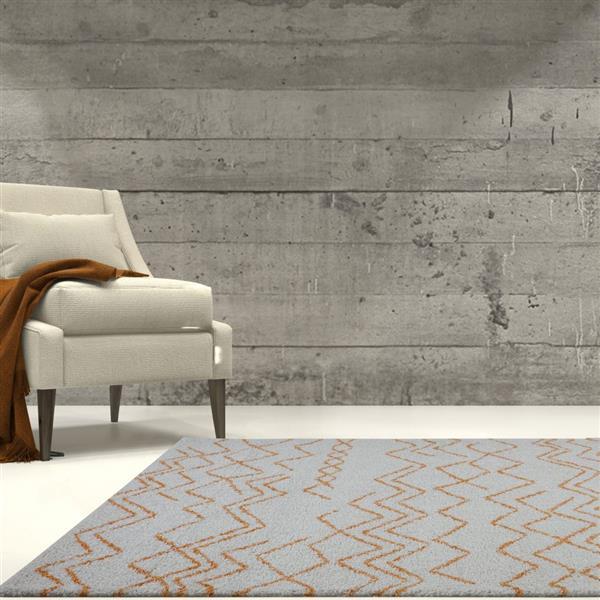 La Dole Rugs®  Contemporary Trellis Rectangular Rug - 8' x 11' - Orange