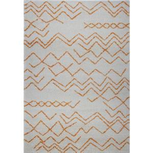 La Dole Rugs®  Contemporary Trellis Rectangular Rug - 5' x 8' - Orange