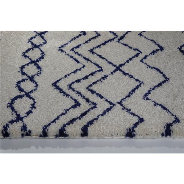 La Dole Rugs®  Contemporary Trellis Rectangular Rug - 7' x 10', Ivory