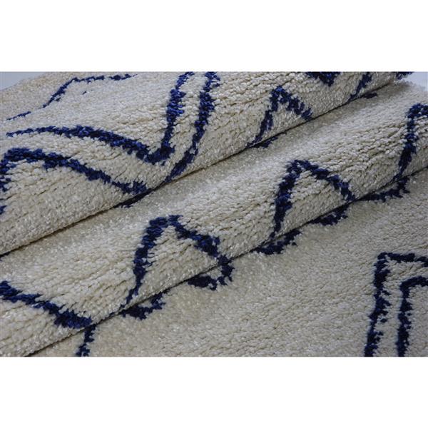 La Dole Rugs®  Contemporary Trellis Rectangular Rug - 8' x 11' - Ivory