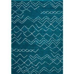 La Dole Rugs®  Contemporary Trellis Rectangular Rug - 8' x 11' - Turquoise