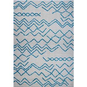 Contemporary Trellis Rectangular Rug - 7' x 10' - Turquoise