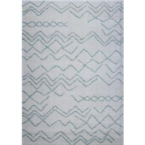 Contemporary Trellis Rectangular Rug - 8' x 11' - Ivory