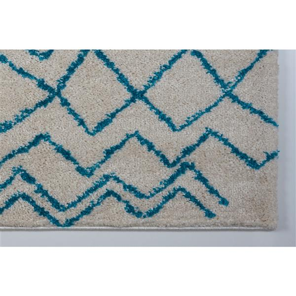 La Dole Rugs®  Contemporary Trellis Rectangular Rug - 5' x 8' - Turquoise