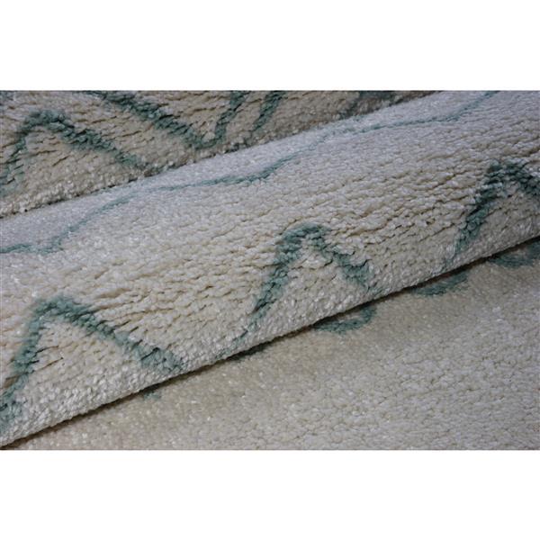 La Dole Rugs®  Contemporary Trellis Rectangular Rug - 5' x 8' - Ivory/Green