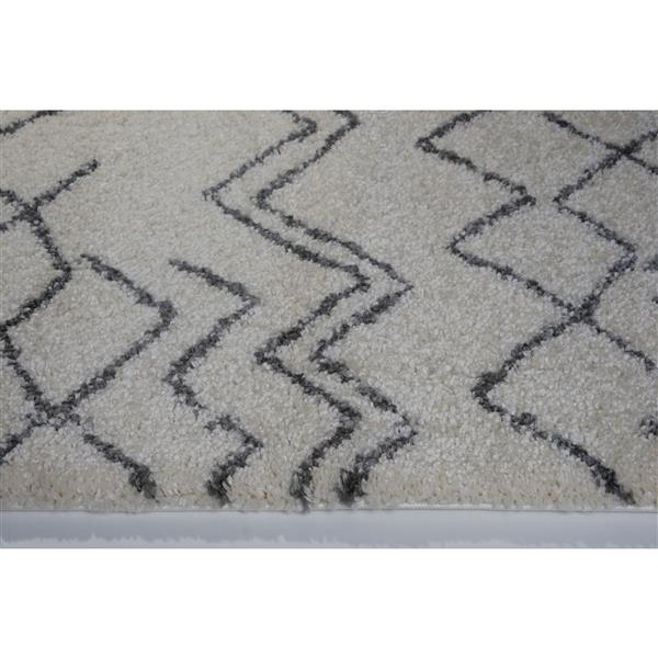 La Dole Rugs®  Contemporary Trellis Rectangular Rug - 4' x 6' - Ivory/Grey