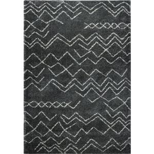 La Dole Rugs®  Contemporary Trellis Rectangular Rug - 4' x 6' - Ivory/Grey