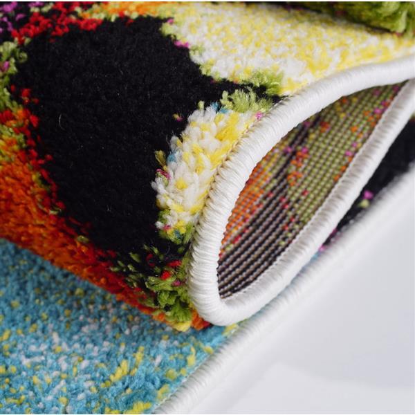 La Dole Rugs®  Contemporary Rectangular Rug - 5' x 8' - Multicolour