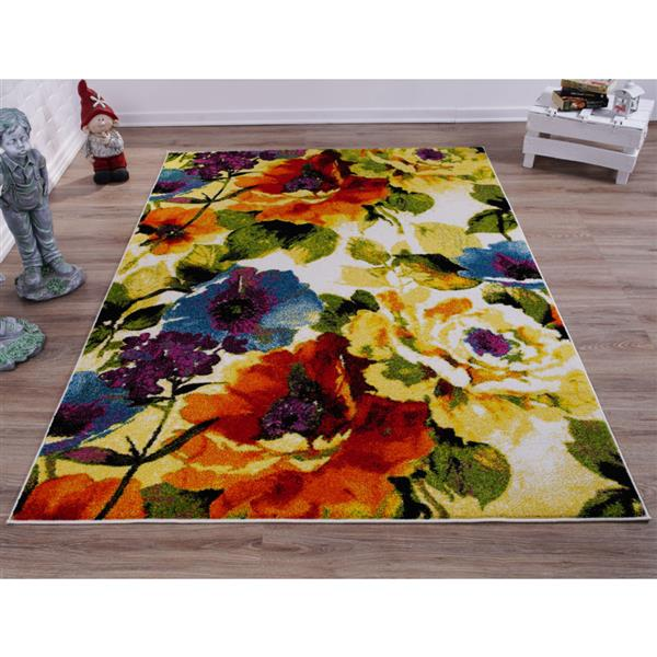 La Dole Rugs®  Contemporary Rectangular Rug - 4' x 6' - Multicolour