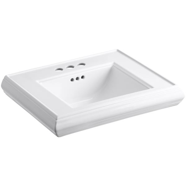 KOHLER Memoirs Pedestal Bathroom Sink Basin - 24.2-in x 8-in - White