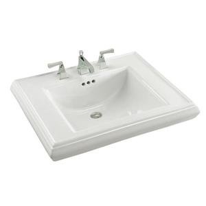 KOHLER Memoirs Pedestal Basin - 27.4-in x 9-in - Vitreous China - White