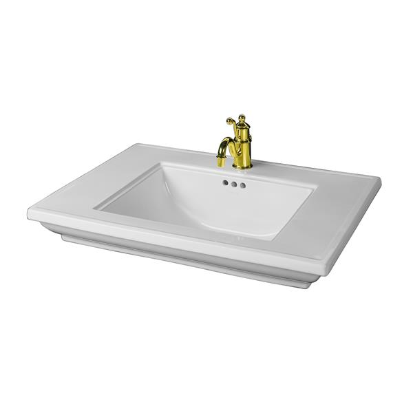 KOHLER Memoirs Pedestal Bathroom Sink Basin - 30.7-in x 8.75-in - White