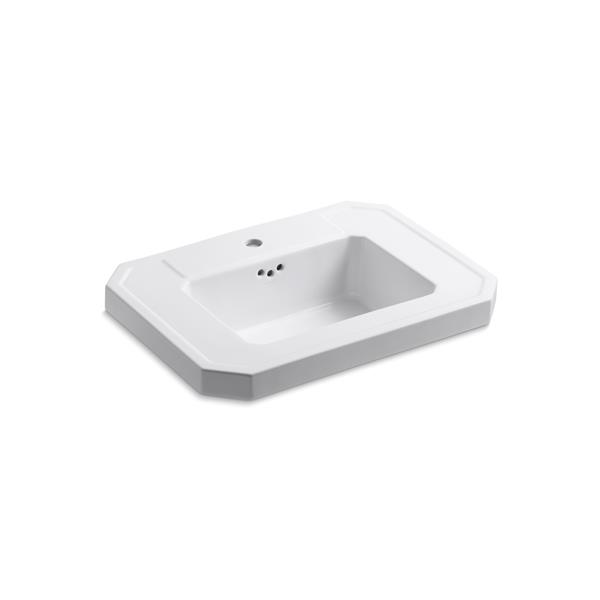 KOHLER Kathryn Bathroom Sink Basin - 27-in x 7.25-in - White