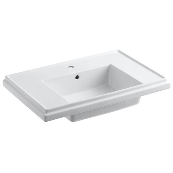 KOHLER Tresham Console Sink - 30-in x 19.5-in x 10-in - Clay - White