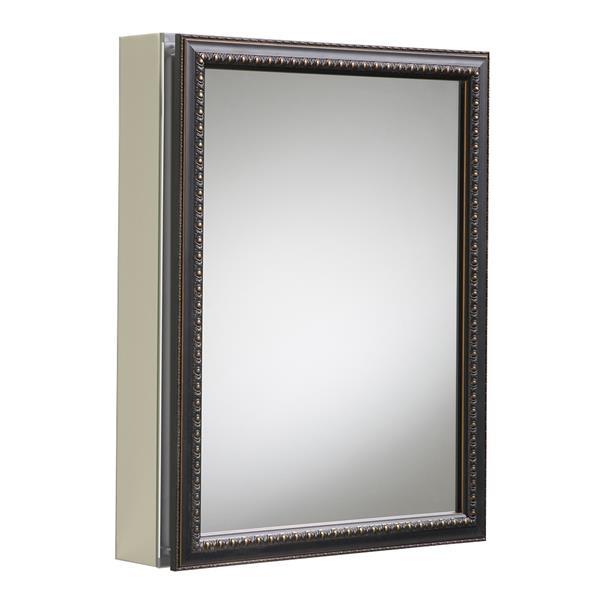 KOHLER Medicine Cabinet - 20-in x 26-in - Aluminum - Bronze