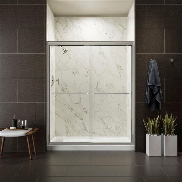 KOHLER Fluence Shower Door - 70-5/16-in x 56-5/8-in - Glass