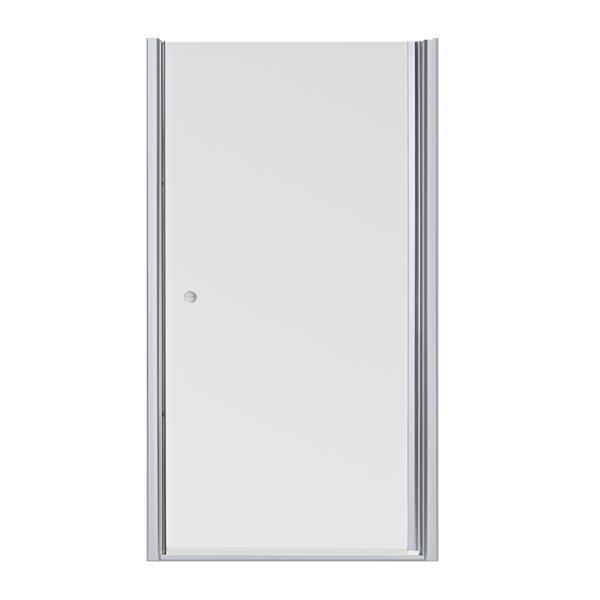KOHLER Fluence Shower Door, 33.75-in x 65.5-in - Glass - Silver