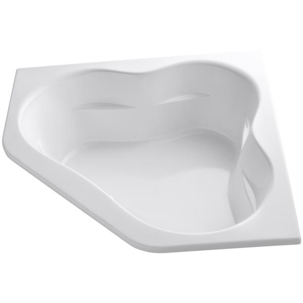 KOHLER Tercet Drop-In Bath - 60-in x 21-in - Acrylic - White