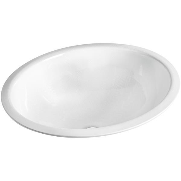KOHLER Sartorial Undermount Sink - 16.13-in - Porcelain - White