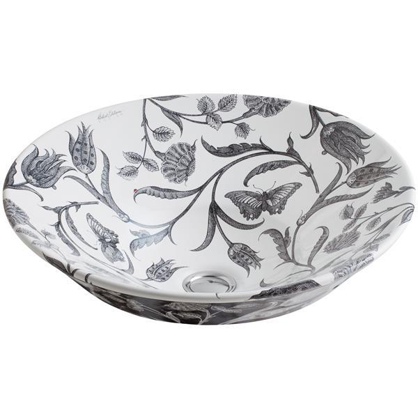 KOHLER Vessel Sink - 16.25-in x 6.38-in - Porcelain - White