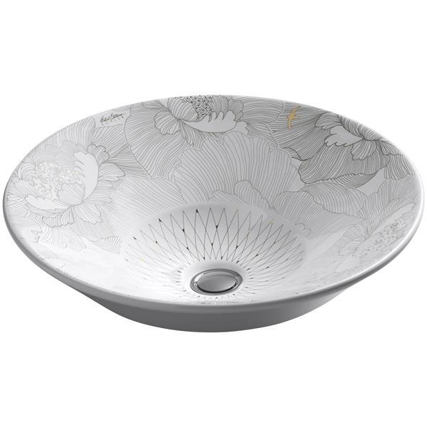 KOHLER Vessel Sink - 16.25-in x 6.4-in - Porcelain - White