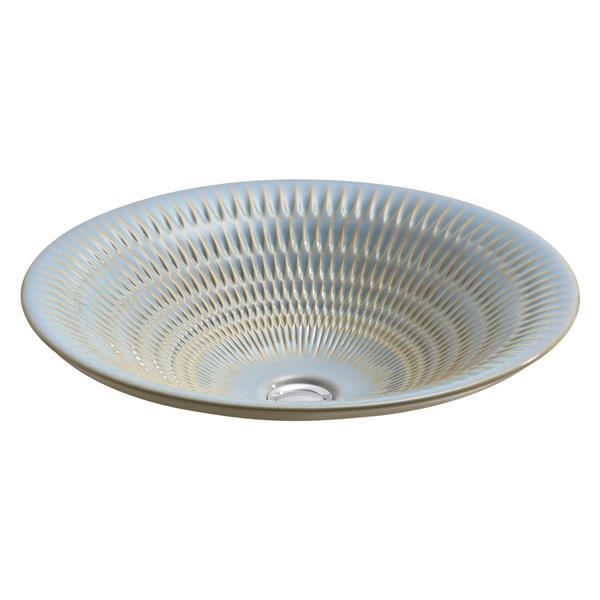 KOHLER Derring Vessel Sink - 17.69-in x 6-in - Porcelain - Gray