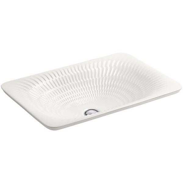KOHLER Derring Vessel Sink - 14.56-in x 6.13-in - Porcelain - White
