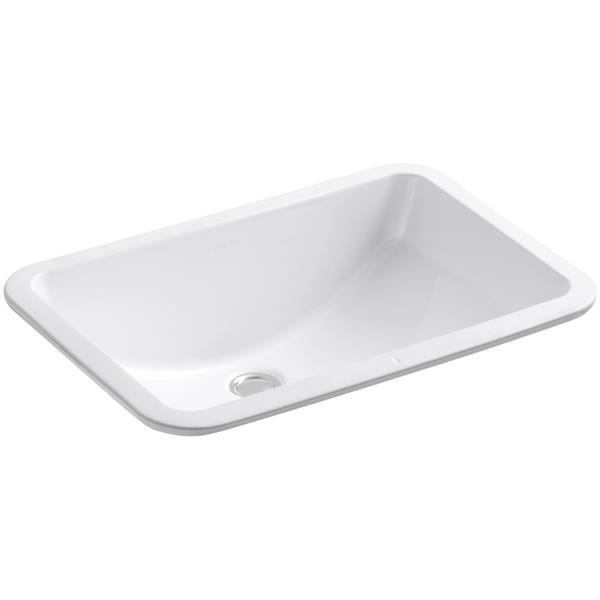 KOHLER Ladena Undermount Sink - 14.38-in - Porcelain - White