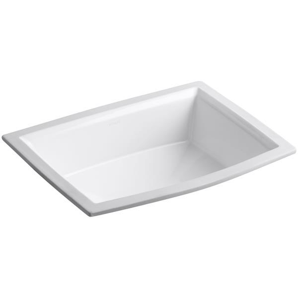 KOHLER Undermount Sink - 15.31-in x 7.5-in - Porcelain - White
