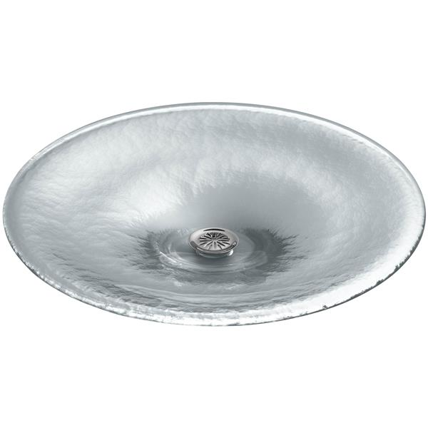 KOHLER Lavinia Vessel Sink - 19-in x 3.88-in - Glass - Clear